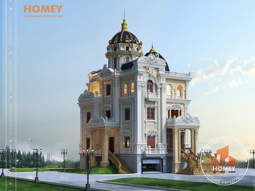 dinh thự Thiết kế biệt thự 2 tầng kiểu Pháp - Dành cho chủ nhân tinh tế và có tầm