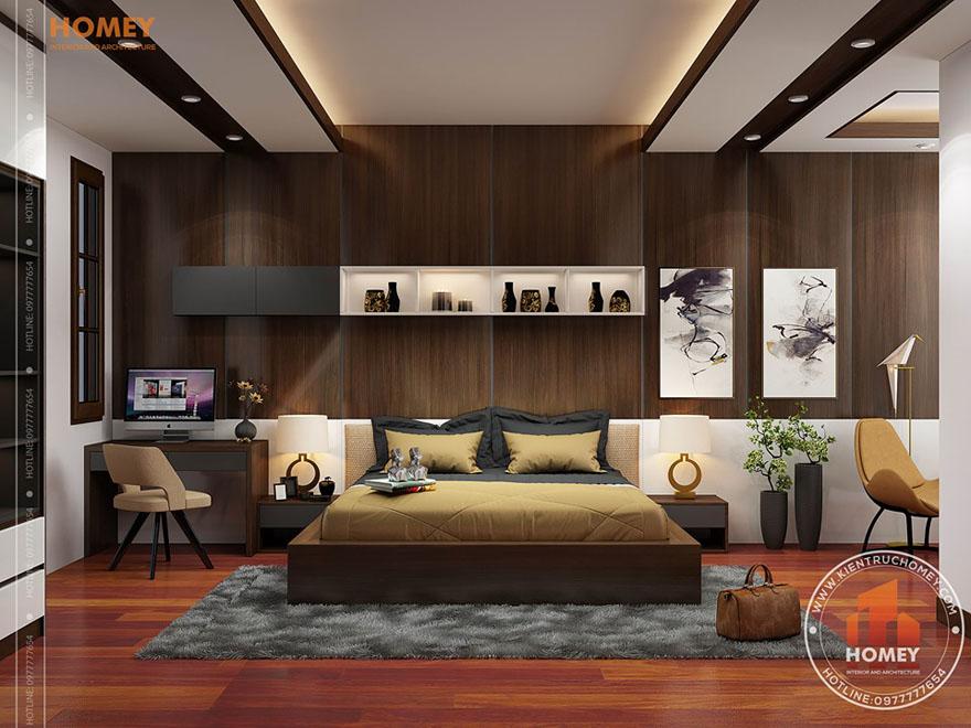 nội thất phòng ngủ 1 Mẫu thiết kế biệt thự mini 2 tầng 100m2 đẹp và sang