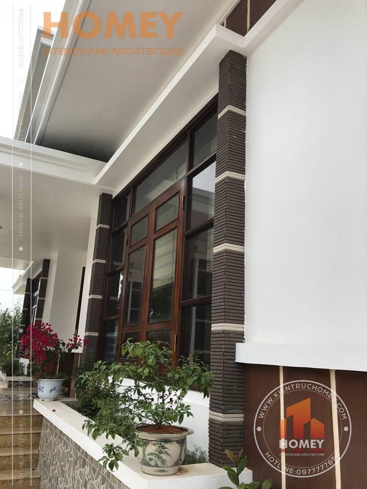 Bồn hoa biệt thự 2 tầng mái Thái