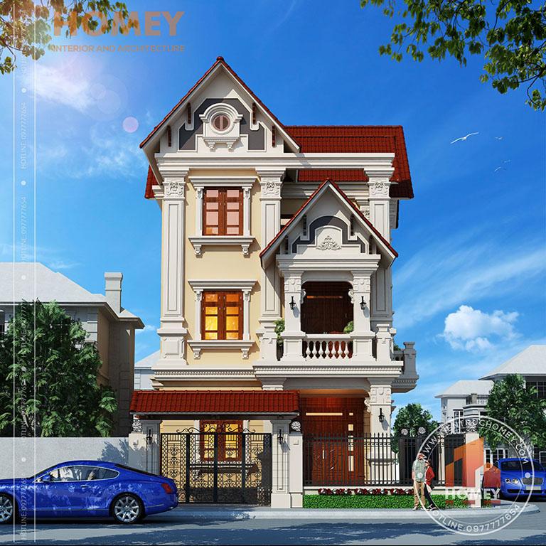 Mẫu thiết kế biệt thự nhà Anh Hùng, Sóc Sơn, Hà Nội