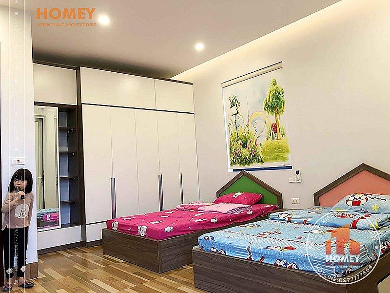 Phòng ngủ con biệt thự mái Thái