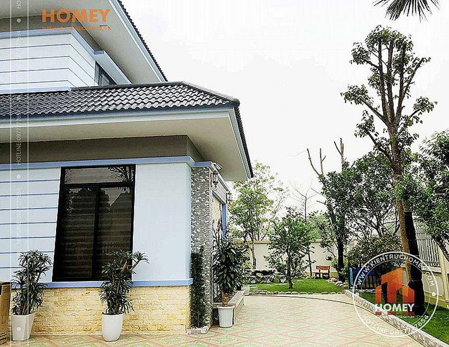 sân vườn biệt thự 2 tầng mái Thái