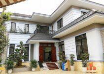 sảnh chính biệt thự 2 tầng mái Thái