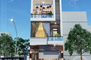 Nhà phố 3 tầng hiện đại tại Vĩnh Phúc