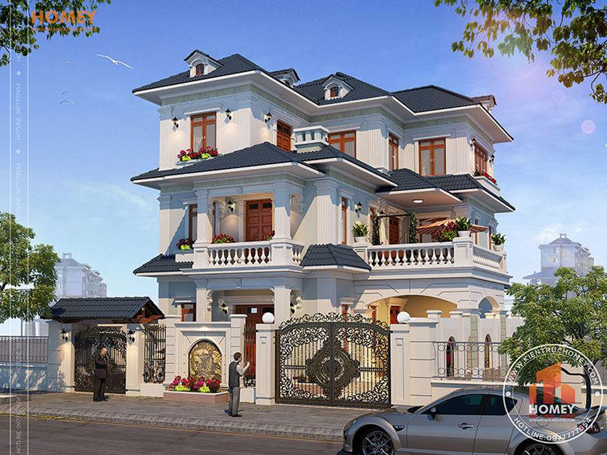 Biệt thự 3 tầng mái Thái Tân cổ điển