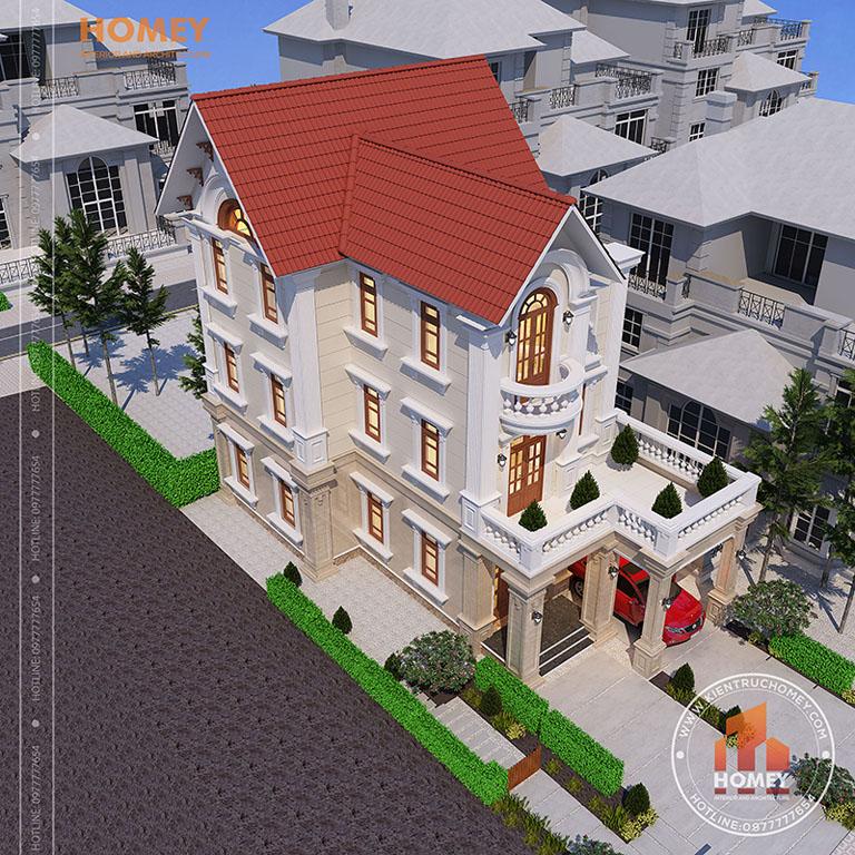 Thiết kế biệt thự tại Thanh Hóa – Mẫu biệt thự tân cổ điển đẹp ngỡ ngàng