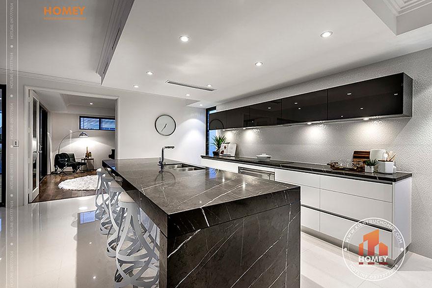 Biệt thự hiện đại 4 tầng - TP. Hồ Chí Minh - phòng bếp