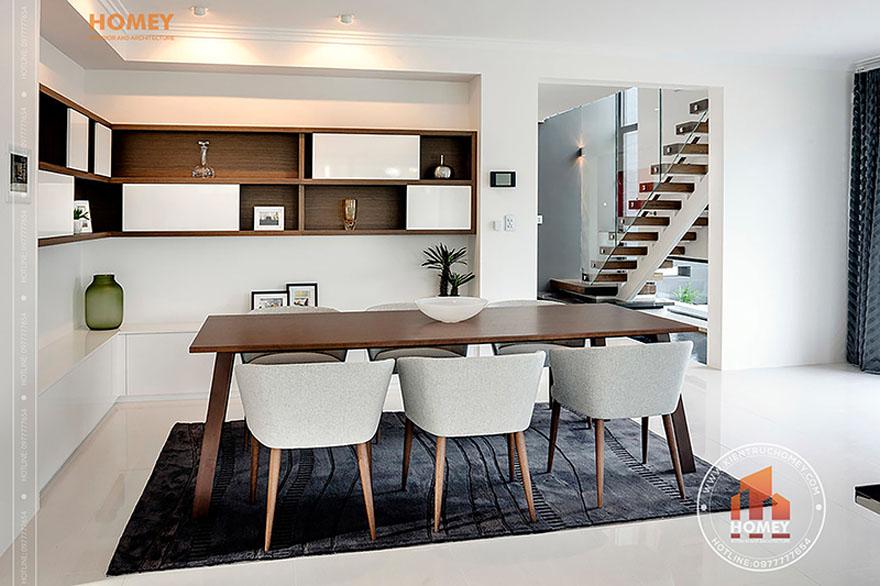 Biệt thự hiện đại 4 tầng - TP. Hồ Chí Minh - không gian bàn ăn