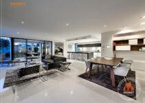 Biệt thự hiện đại 4 tầng - TP. Hồ Chí Minh - phòng khách - bếp