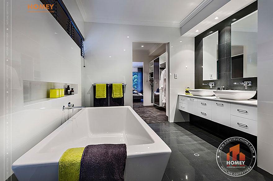 Biệt thự hiện đại 4 tầng - TP. Hồ Chí Minh - phòng tắm