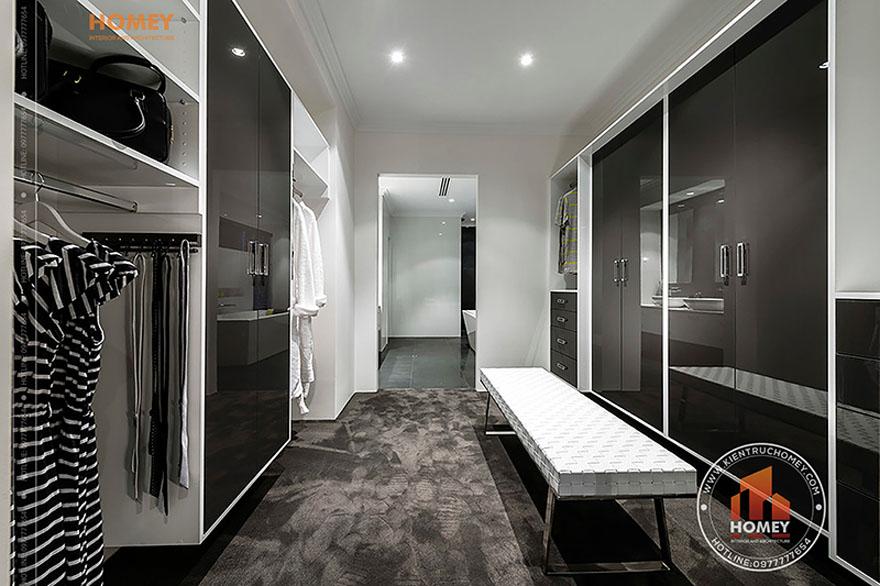 Biệt thự hiện đại 4 tầng - TP. Hồ Chí Minh - phòng thay đồ
