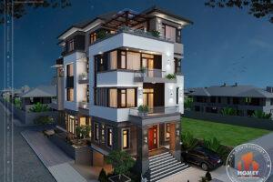 Biệt thự hiện đại 5 tầng - Hưng Yên