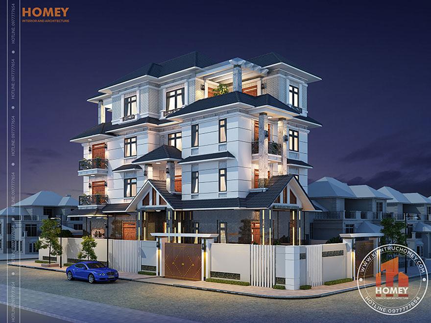 Biệt thự mái thái 5 tầng Hải phòng