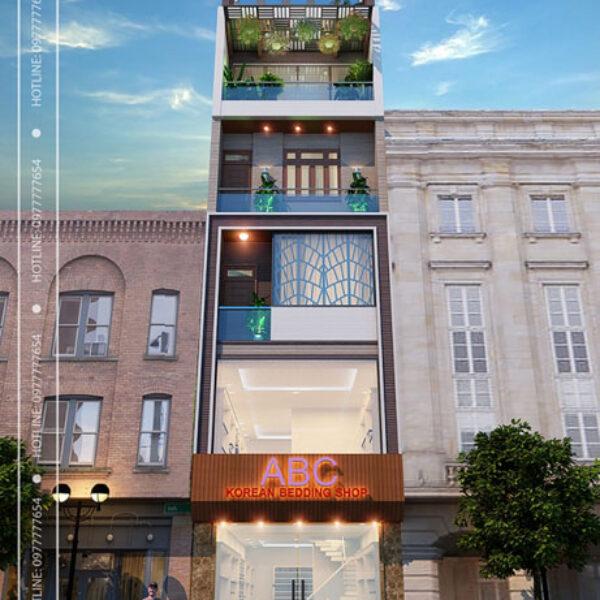 Nhà lô phố hiện đại 6 tầng - Bắc Ninh - phối cảnh