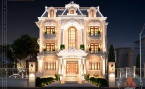 dinh thự 3 tầng cổ điển hoành tráng