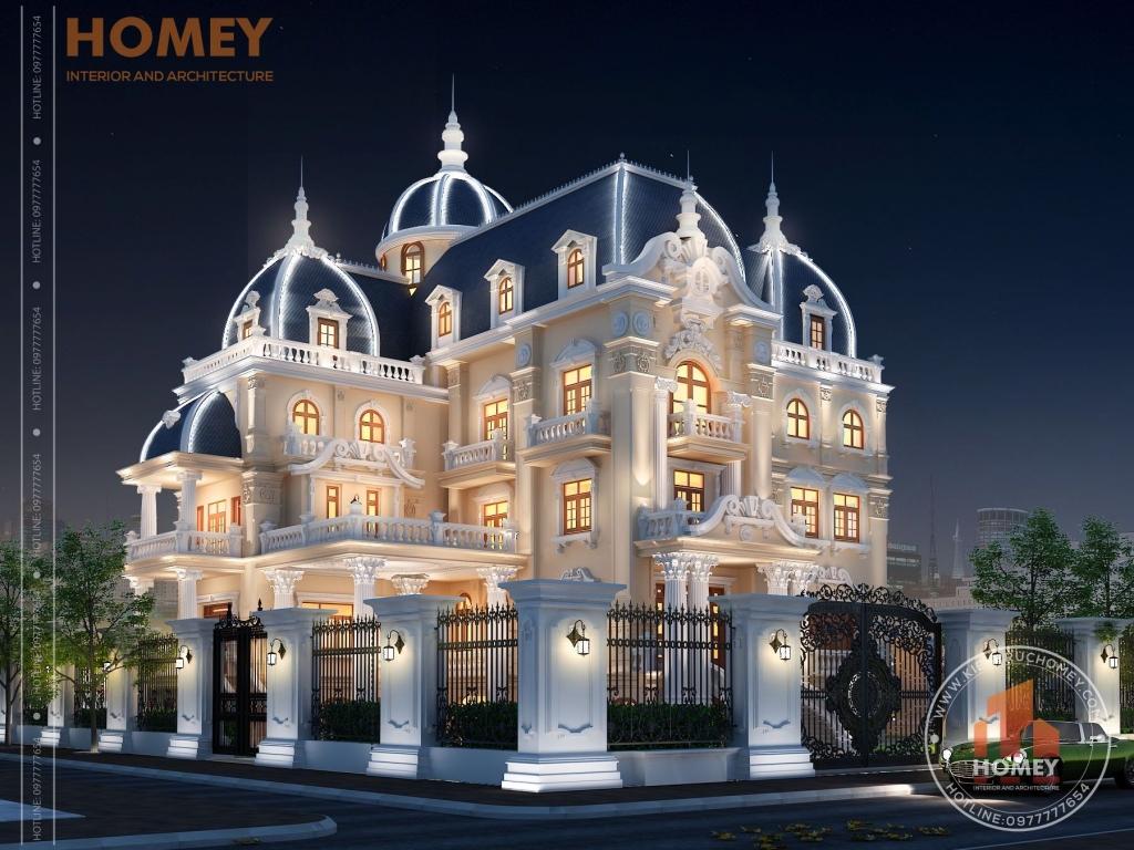 Tổng thể lâu đài đẹp nguy nga tại Nam Định có tầng hầm