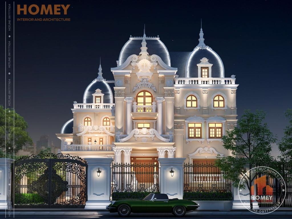 Lâu đài đẹp nguy nga tại Nam Định có tầng hầm