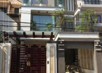 nhà mái lệch hiện đại 3 tầng