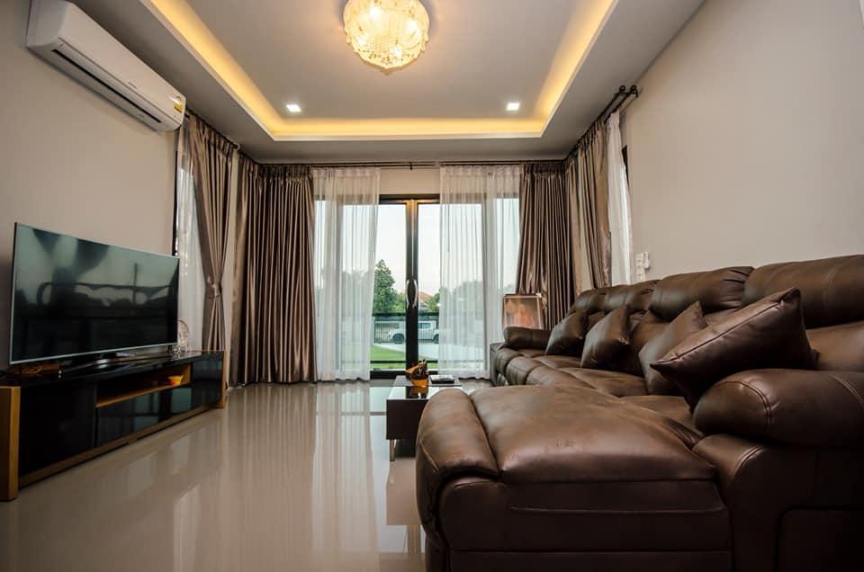 Phòng khách biệt thự 1 tầng hiện đại