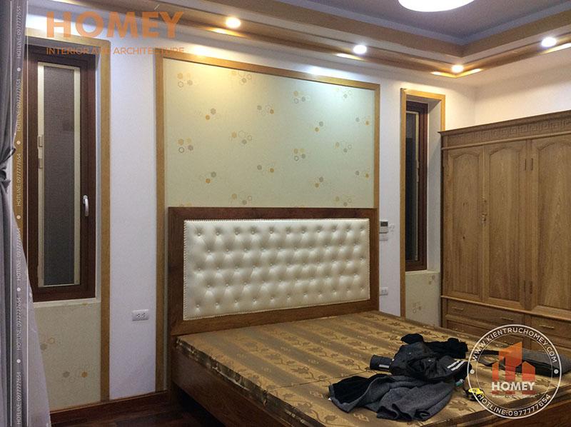 phòng ngủ nhà mái lệch hiện đại 3 tầng