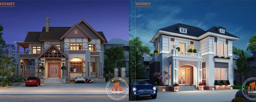 Mẫu thiết kế biệt thự nhà vườn do Homey thực hiện