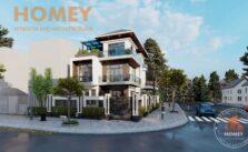 biệt thự 3 tầng hiện đại mái Thái đẹp