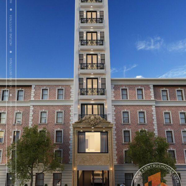 Nhà phố kinh doanh khách sạn 9 tầng