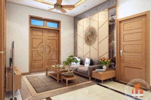 Nội thất phòng khách gỗ hiện đại