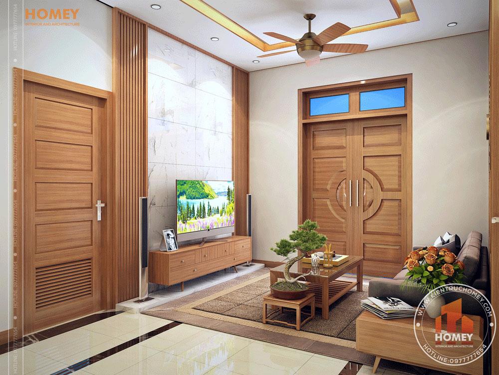 Nội thất phòng khách gỗ hiện đại 2