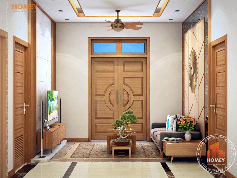 Nội thất phòng khách gỗ hiện đại 3