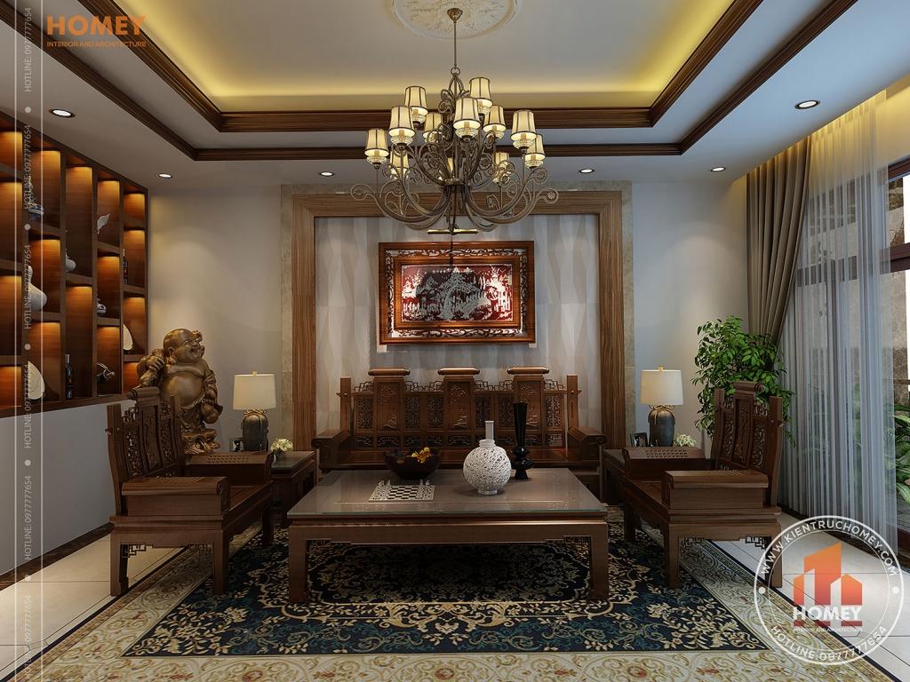 Phòng khách bộ bàn ghế Thái Sư gỗ Hương đẹp