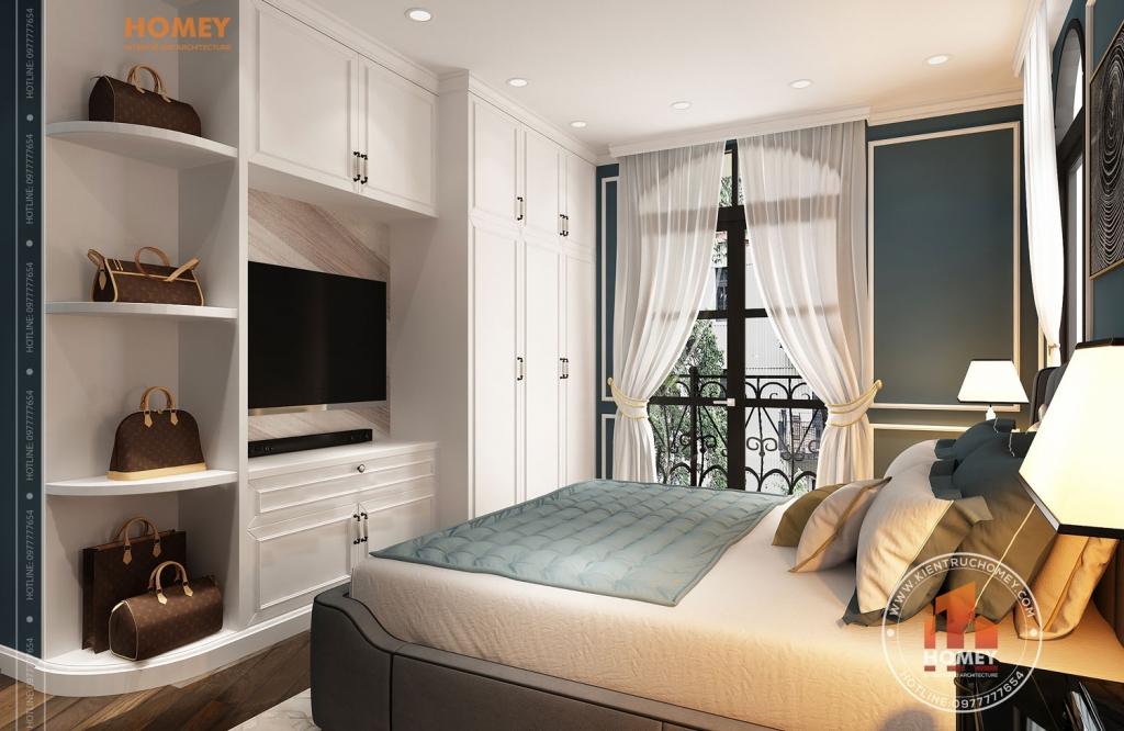 Phòng ngủ master biệt thự vinhomes Hải Phòng phong cách luxury-sang-trọng