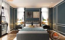 Phòng ngủ master biệt thự vinhomes Hải Phòng