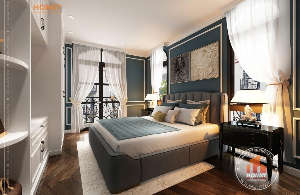 Phòng ngủ master biệt thự vinhomes Hải Phòng phong cách luxury