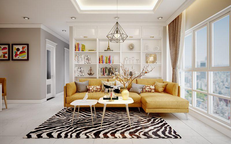 Thiết kế phòng khách biệt thự và những tiêu chí phong thủy nội thất