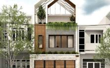 Kiến trúc lô phố hiện đại-mặt đứng