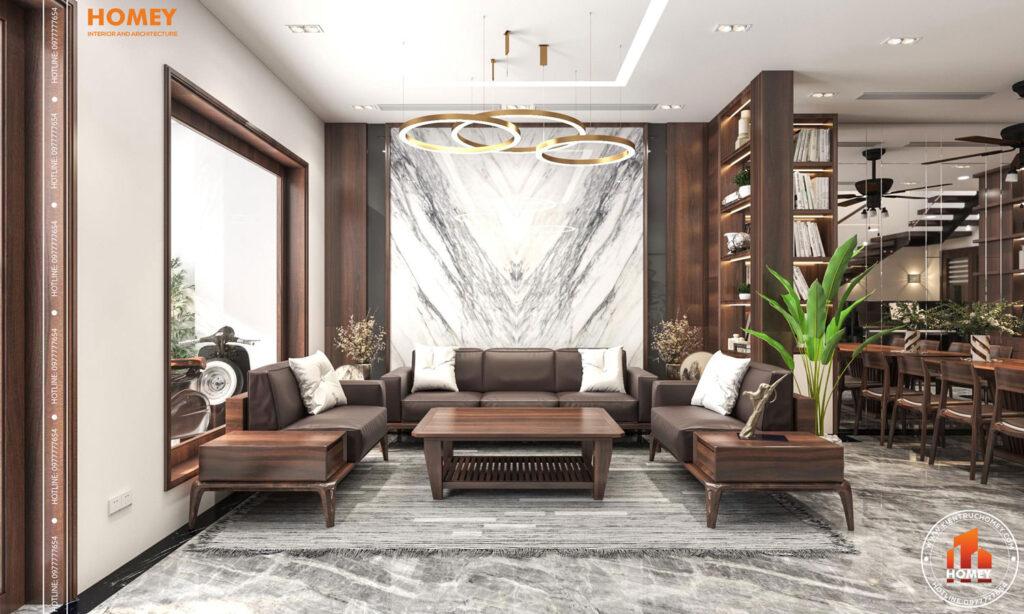 Lô phố nội thất phòng khách hiện đại