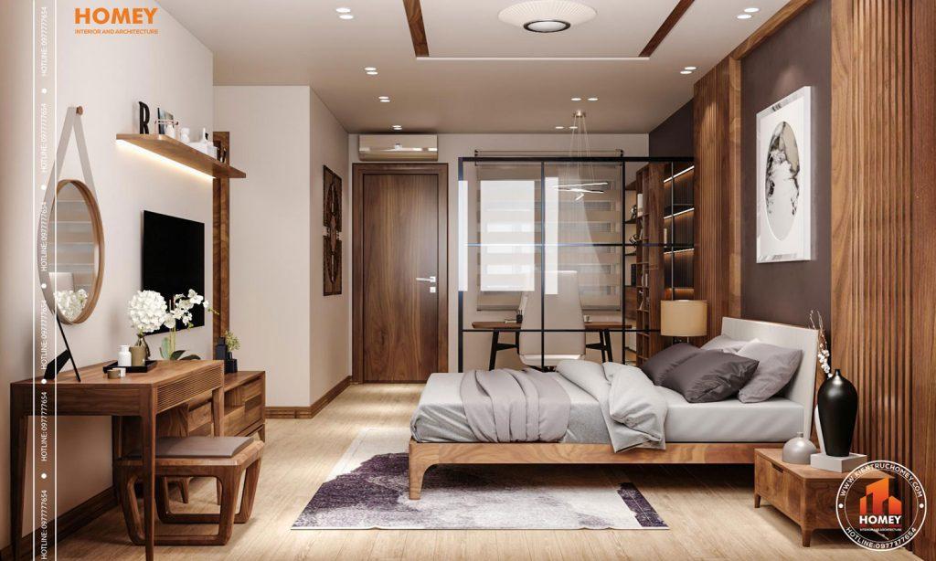 Lô phố nội thất phòng ngủ master hiện đại