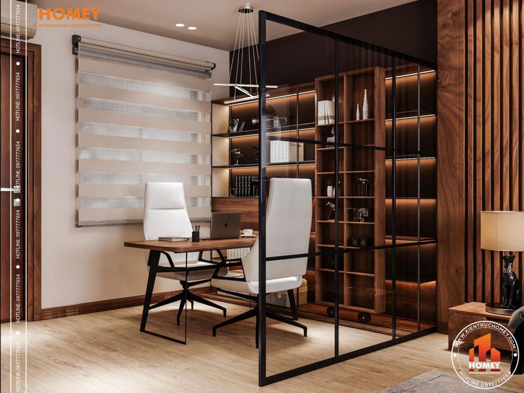 Lô phố nội thất phòng ngủ master hiện đại-bàn làm việc-2