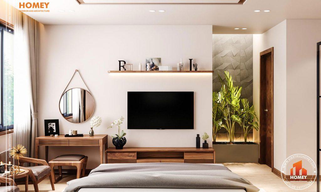 Lô phố nội thất phòng ngủ master hiện đại-kệ tivi-2