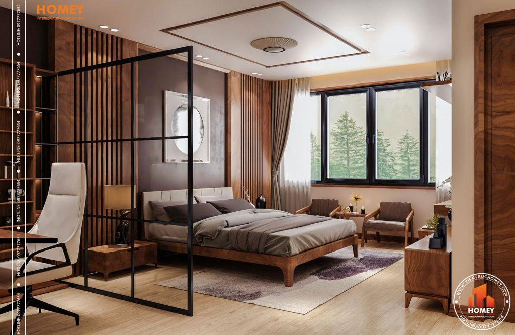 Lô phố nội thất phòng ngủ master hiện đại-tổng thể