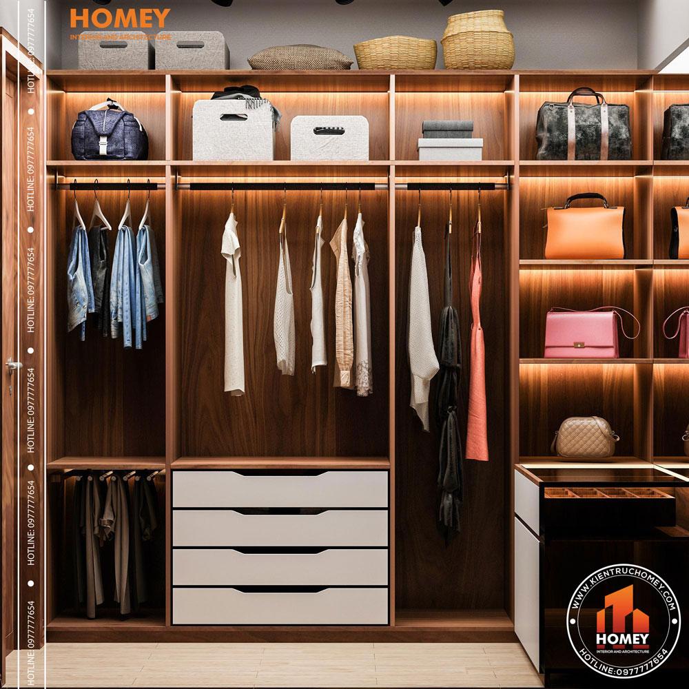 Lô phố nội thất phòng thay đồ
