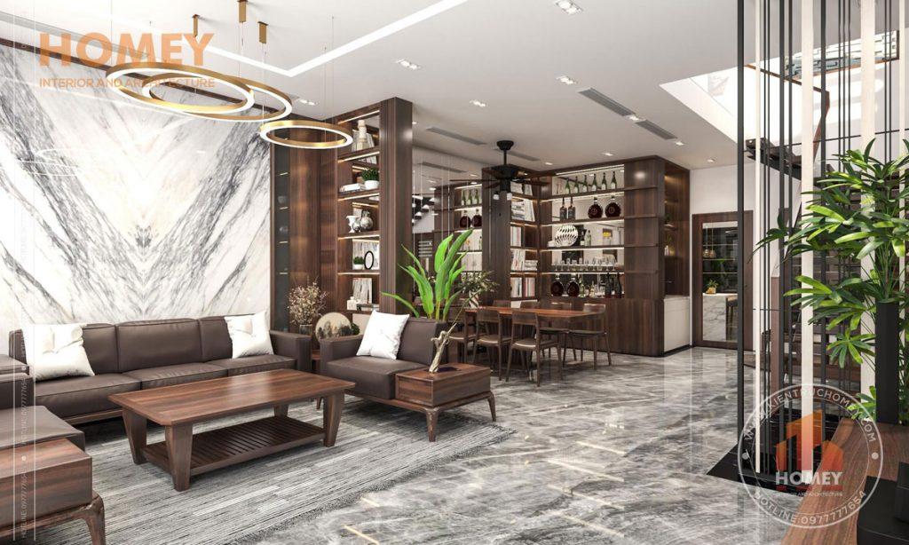 phong khach biet thu sofa go oc cho sang trong Kinh nghiệm thiết kế nội thất biệt thự từ các chuyên gia hàng đầu