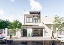 nhà phố 2 tầng mặt tiền 6,5m hiện đại chi phí 900 triệu