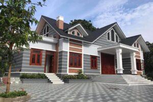 Biệt thự 1 tầng mái Thái hiện đại