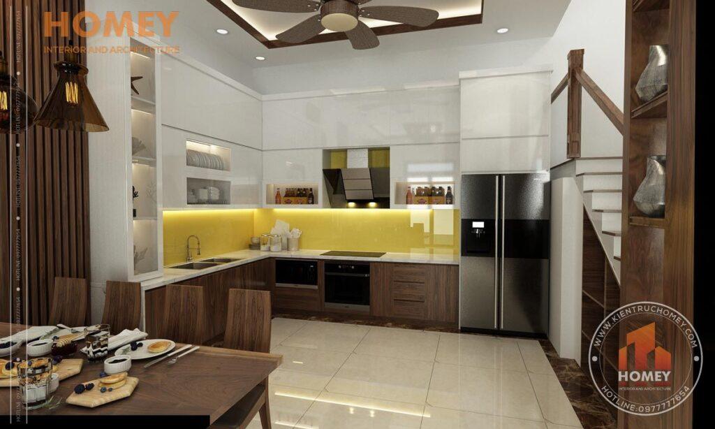 nội thất biệt thự 3 tầng phòng bếp đẹp