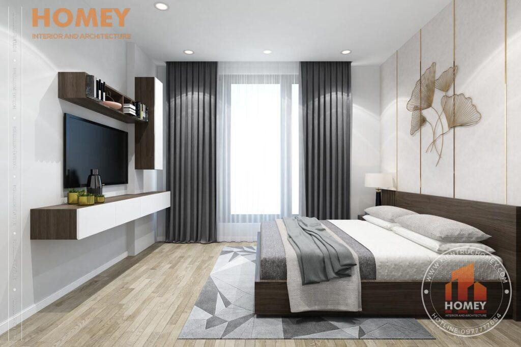 nội thất biệt thự 3 tầng phòng ngủ trẻ trung hiện đại