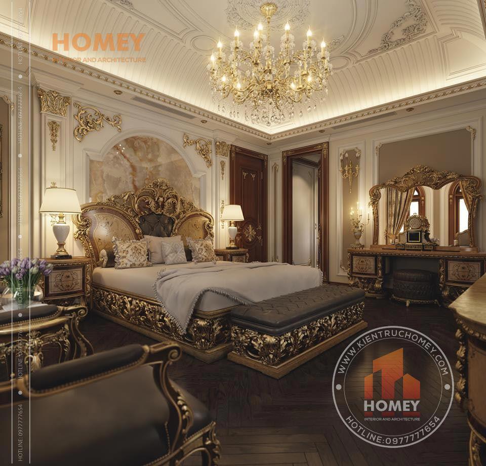 nội thất biệt thự phòng ngủ master hoành tráng