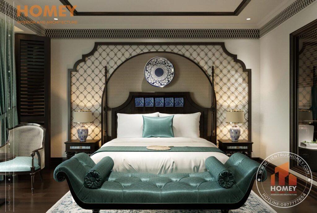 Phòng ngủ phong cách đông dương indochine
