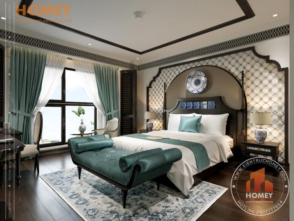 Phòng ngủ phong cách đông dương indochine đẹp